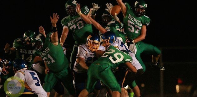 Mendon opens football season with 33-point win over Centreville