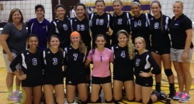 The 2014 Three Rivers volleyball team.