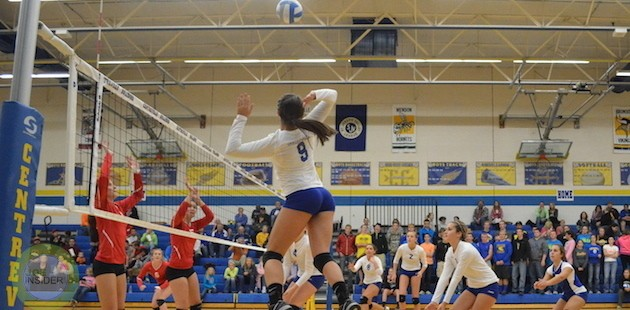 Centreville volleyball takes all three games against Colon