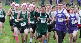 The start of the boys race Saturday at Gobles. | Photo by Nicci Plummer