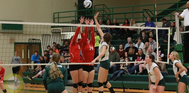 Mendon volleyball ends regular season with win over Colon