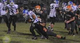 Plainwell puts the final touches on a shutout win over Sturgis Friday night. | Photo by Wes Morgan