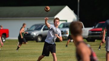 Sturgis' Corbin Whitcomb works at quarterback at Monday's 7-on-7.  | Wes Morgan