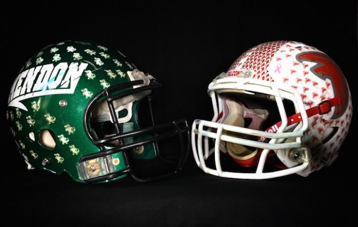 Video: Football Helmet Battle Bracket — Mendon vs. Constantine