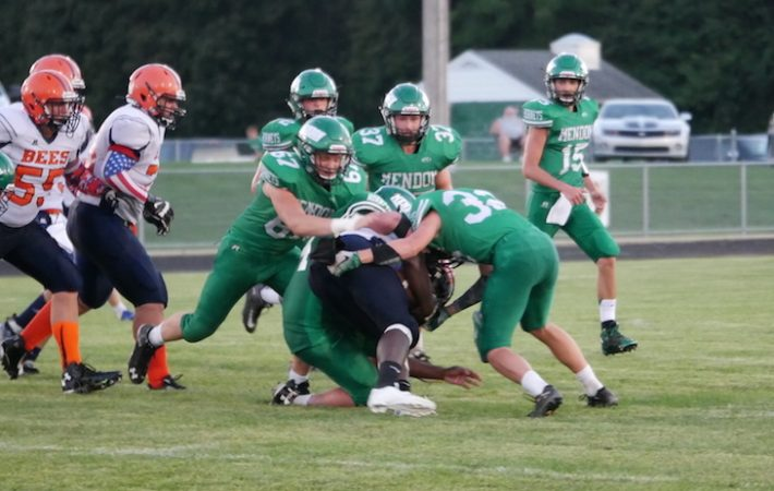 Kretschman and Mendon make a statement with Week 1 football victory over Bridgman